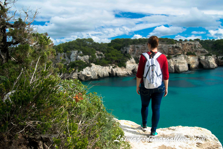 vistas de la cala macarella desde el camí de cavalls en Menorca en Invierno - Los viajes de Margalliver